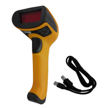 Black/Yellow ABS+PC Antiknock design USB 2.0 Handheld Barcode Reader, Laser Bar Code Scanner for POS PC Wholesale Drop Shipping