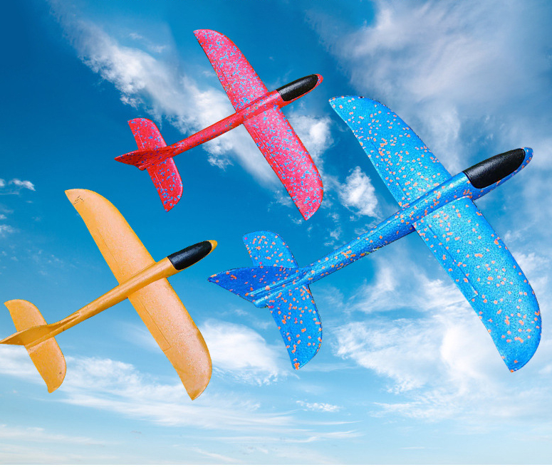 35cm Airplane Hand Launch Throwing Glider Aircraft Inertial Foam EVA Airplane Toy Plane Model Outdoor Toy Educational Toys image