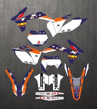 Juego de pegatinas para motocicleta KTM 125, 250, 300, 350, 400, 450,...