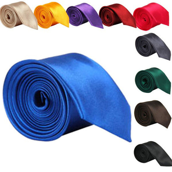 Stylish 5 Cm Classic Skinny Slim Ties Solid Color Plain Silk For Men Jacquard Woven Necktie Tie 20 Colors