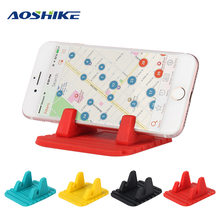 Aoshike Magnetic Car Phone Holder Stand Support Popsocket Universal Bracket Fastening The Phone Interior Accessories(China)