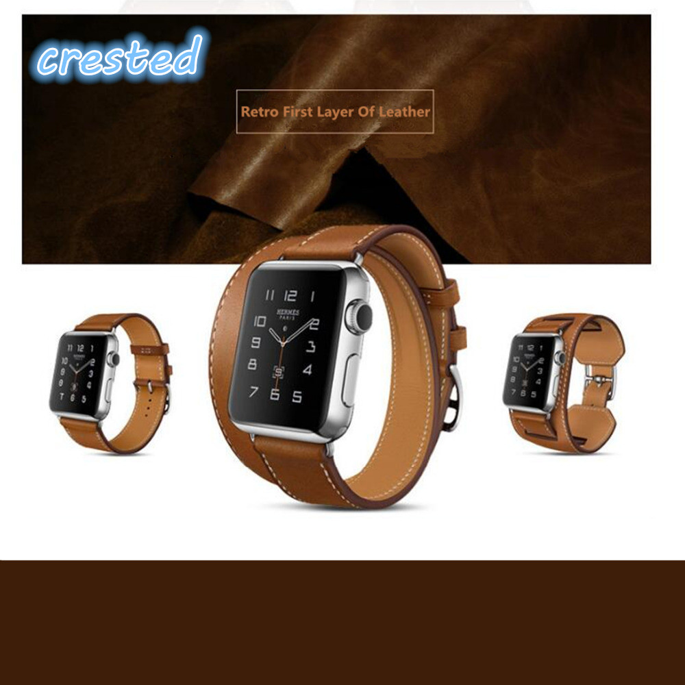 3 Models Genuine Leather watchband strap for apple watch ...