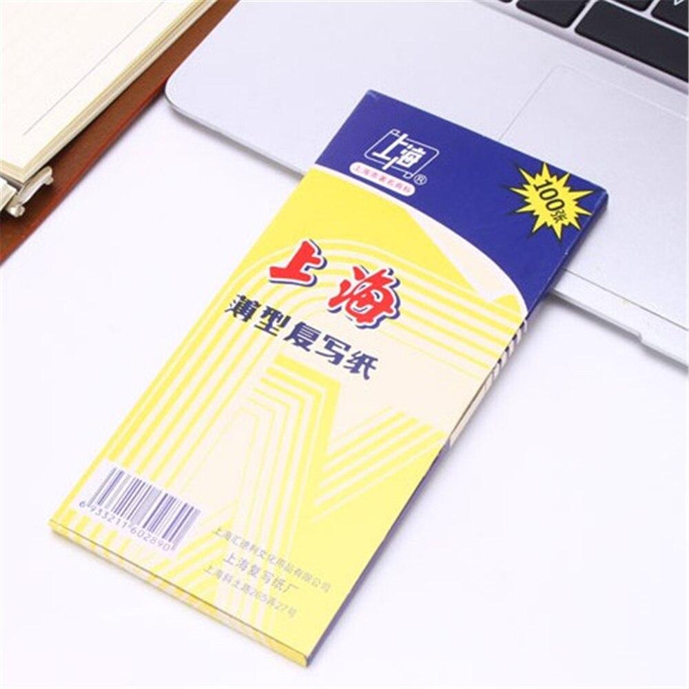100pcs/box 48K Blue Carbon Stencil Transfer Paper Double Sided Hand Pro Copier Tracing Hectograph Repro 8.5x18.5cm
