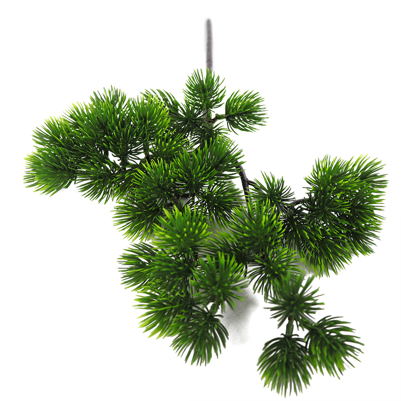 40cm Single Big Pine Green Branch Simulation Leaves Plant Welcoming Pine Bonsai Accessories Home Decoration Plant Fake Flower