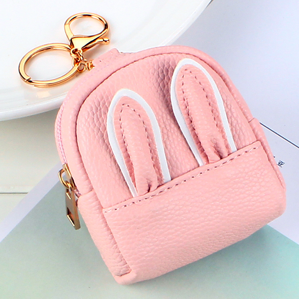 Mini Wallets Lady Short Zipper Coin Purses ID Cards Keys Money Bags Gold Buckle Woman Keychain Ear Wallet New Carteira Feminina
