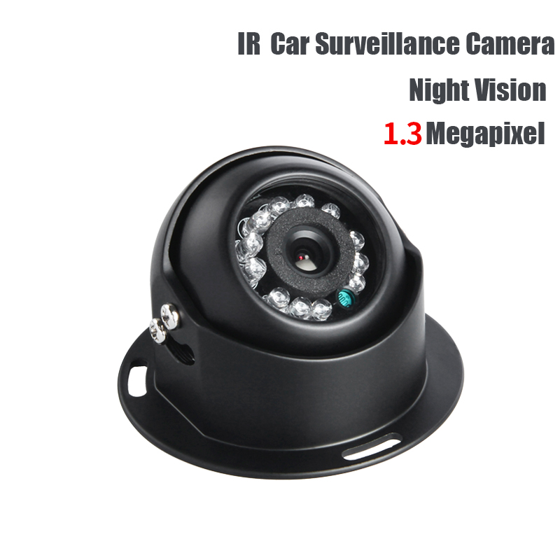 Free Shipping AHD 1.3MP 1/3 Sony CCD Camera IR Night Vision Indoor for Auto Parking Bus Truck Boat DC12V Surveillance Security