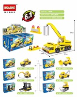 New Hot Sale 6 In 1 Engineering Vehicles Car Building Blocks Bricks Puzzle Toy Compatible With