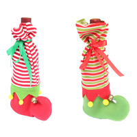2 Pcs Lot XMAS Stockings And Sacks Christmas Decorations For Home And Trees Red Christmas Stripe