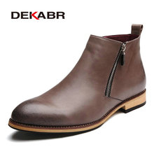 dekabr 2017 men boots comfortable black winter warm waterproof fashion ankle boots casual men leather snow boots winter shoes