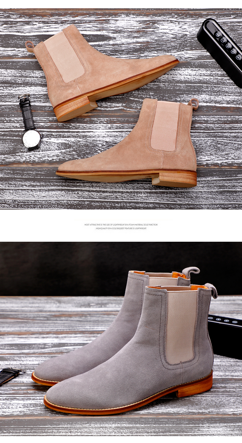 Men's Boots Casual Men Shoes Winter Mid-Calf Chelsea Boots Men Boot Genuine Leather Ankle Autumn Men Winter Boots Big Size 45-48 (4)