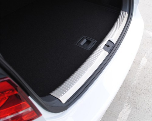 Stainless Steel Rear Trunk Protection Plate For Volkswagen For VW Golf MK7 car rear trunk security shield shade cargo cover for volkswagen vw golf 6 7 mk6 mk7 black beige