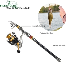 Cheapest prices Superhard Telescopic Fishing Rod Carp Trout Fishing Rods Spinning w/ Carbon Fiber Travel Ultra Light Pesca Pole Tackle 1.8M-3.6M