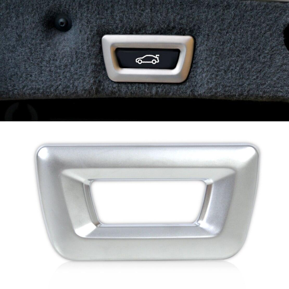 Chrome ABS Trunk Switch 2 Button Trim Frame For BMW X1 X3 X4 X5 X6 3 5 Series