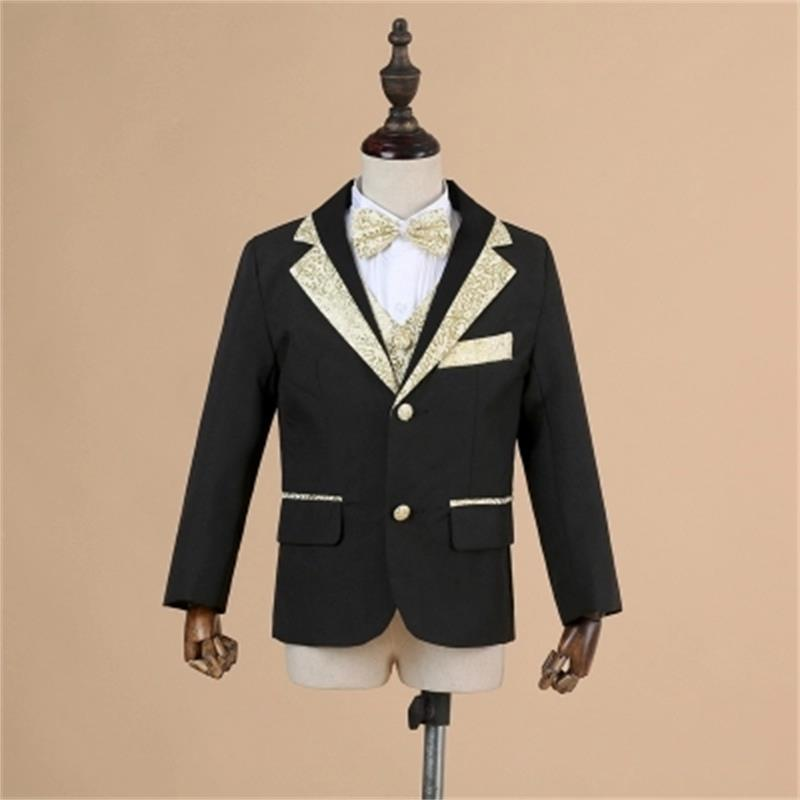 High quality boy suit + suit jacket + pants + shirt + bow tie + belt flower boy wedding suit children formal party suit, t016 new fashion boy suit jacket children show host children s piano vest suit t shirt vest pants bow tie boy blazer suit