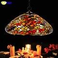 Подвесная лампа FUMAT из витражного стекла с декоративной бабочкой  абажур для гостиной  спальни  многоцветная Лампа для помещений  светодиод...