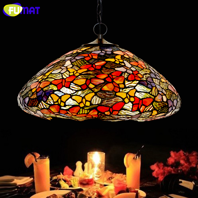 Fumat stained glass pendant lamp art butterfly glass shade lamps fumat stained glass pendant lamp art butterfly glass shade lamps living room bed room multi color aloadofball Images