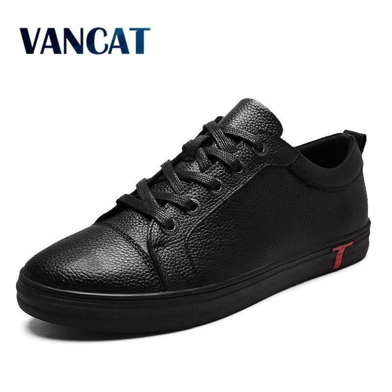 VANCAT Big Size Men Shoes Fashion Black Men Casual Shoes Genuine Leather Male Casual Shoes Luxury Italian Brand Men Flats Shoes new 2017 summer brand casual men shoes mens flats luxury genuine leather shoes man breathing holes oxford big size leisure shoes