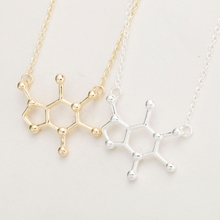 Caffeine Molecule Necklace Chemical Structure