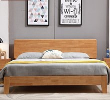 Home Bed Bedroom Furniture Home Furniture solid wood double beds Europe and America style 180*200cm can customize size high end(China)