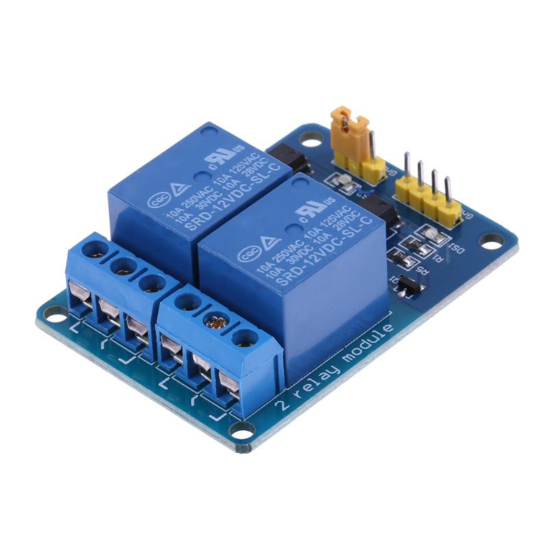 2 Channels 12V Relay Module Extension Board with Optocoupler Insulating LED Light PLC Control Module Parts Component ...