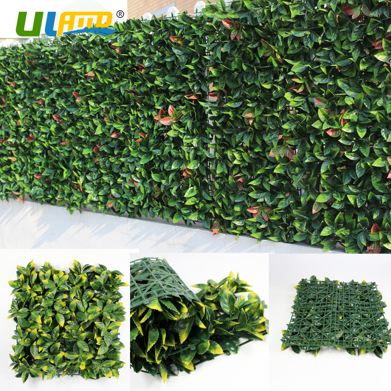 Outdoor Artificial Boxwood Hedge Privacy Fence 10x10 Inches UV Proof Screen Greenery Panels Mat Garden Decor Backyard Party