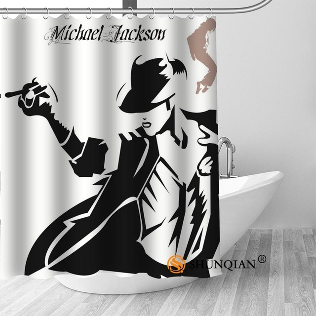21 Michael jackson shower curtain washable thickened 5c64f7a44eda9
