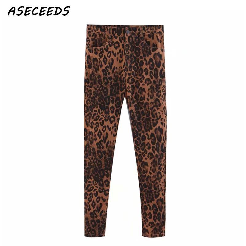 ab44499433fde women high waist jeans Streetwear Punk rock Leopard print jeans women  fashion skinny pencil pants jeggings jeans for women 2018
