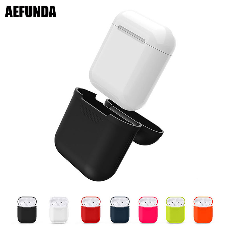 Color Soft Silicone Case For Airpods Headphone Protective Sleeve Cover Shockproof Box For Apple Air Pods Earphone Accessories