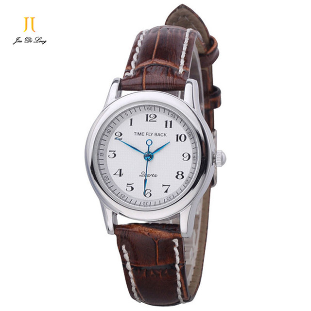 Brand TS Classic Anticlockwise Quartz Watch Women Dress Clock Ladies Watches Leather Strap Wristwatch Waterproof Montre Femme