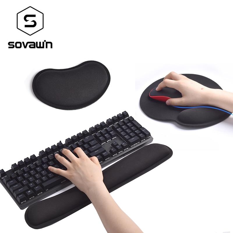 Mechanical Keyboard Wrist Rest Pad Mouse Wrist Rest Pad Ergonomic Memory Foam Set Comfort Mouse Pad For Office Computer Laptop