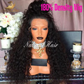 180 Density Kinky Curly Wig Lace Front Human Hair Wigs 8A Full Lace Human Hair Wigs For Black Women Brazilian Wigs