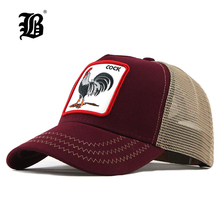 FLB Summer Animal Baseball Cap Embroidery Mesh Cap Hats For Men Women Snapback Gorras Hombre