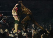 George Bellows: Both Members of This Club SILK POSTER Decorative painting  24x36inch