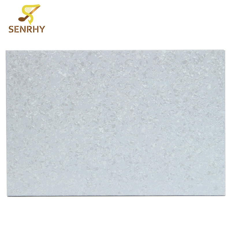 Senrhy 290x430x2 3mm Pearl White Guitar Bass Blank Plate Pickguard Blank Plate For Electric Bass Instruments