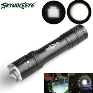 DC 27 Shining Hot Selling Fast Shipping  Powerful 2500 Lumens Zoomable CREE Q5 LED 18650 Flashlight Torch Lamp