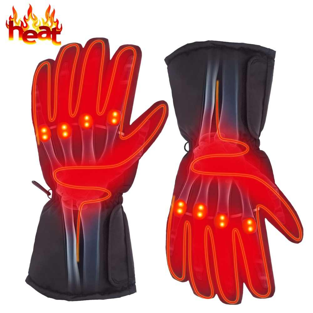 4.5V Electric Heating Gloves with AA Battery Powered Heated Gloves for Men and Women Winter Outdoor Camping Hiking Hunting