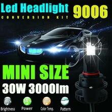 9006 HB4 Высокой Мощности СВЕТОДИОДНЫЕ Фонари Лампы 3000LM 30 Вт DRL Противотуманные Фары фары Ближнего света Дальнего света Фар Фары Автомобиля Лампа Replacemt