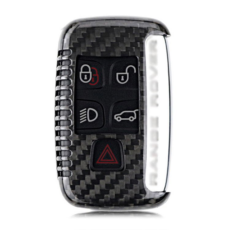 Ipoboo New High Quality New Real Carbon Fiber Auto Remote Flip Key Fob Holder Skin Shell Case For Land Rover Series
