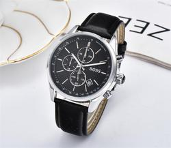 2019 High Quality BOSS Brand quartz wrist Watch for Men Multifunction style stainless steel Calendar Date Watches Small dials