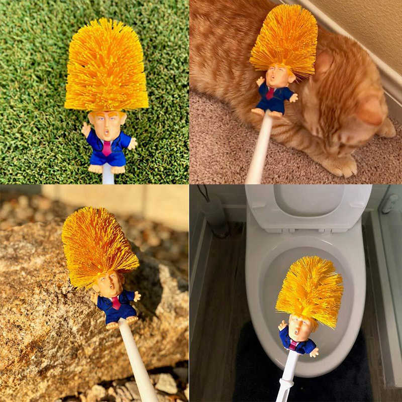 Donald Trump Toilet Brush Cleaning Set Mischievous Gift Make Toilet Great Again