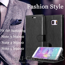Fashion Style Wallet Case for Samsung Galaxy Note 3 4 5 Card holder Photo frame Flip phone Case Cover for N9000 N9100 N9200 Case cool protective plastic tpu case for samsung galaxy note 3 n9000 white black