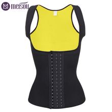 Unisex Sauna Waist Trainer Top Yellow Double Layer Trimmer Belt Hooks Body Shaper Hot Shaping Shapers