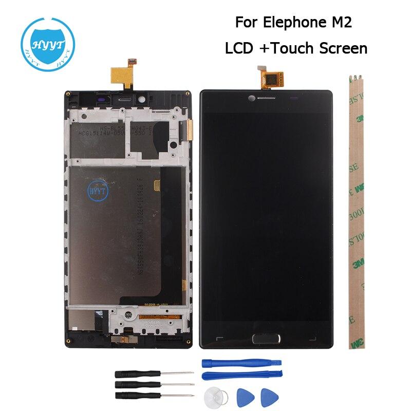 imágenes para Para Elephone M2 MTK6573 Octa Core Pantalla LCD y Pantalla Táctil de 5.5 pulgadas de Pantalla Digitalizador Asamblea Reemplazo + Herramienta adhesivo