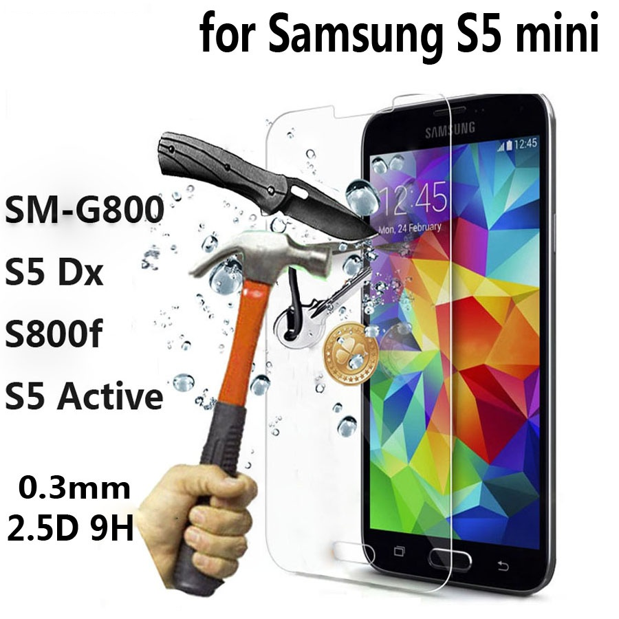 For <font><b>SAMSUNG</b></font> Galaxy S5 mini S5 Duos Active Tempered Glass for Galaxy i9600 Neo G900F <font><b>G800F</b></font> Screen Protective Film Cover Case image