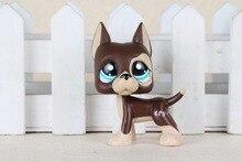 New pet Genuine Original LPS 817 Great Dane Brown Chocolate Dot Eyes font b Toys b