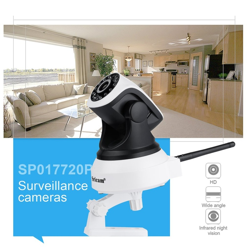 Sricam SP017 Baby Monitor HD Wireless Security IP Camera Wifi Two-Way Audio IR-Cut Night Vision Audio Surveillance Alarm Camera