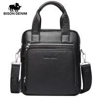 BISON DENIM mode mannen tas lederen handtassen schoudertassen zakelijke mannelijke merk handtas messenger bag