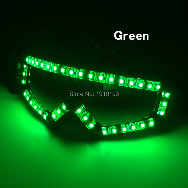 Twinkling Led Strip Neon Concert Party Glasses Hipster Favors Popular Light Up Laser Fashion Musical Eyeglasses for Dancing Hall
