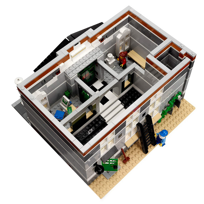 Lepin 15003 New 2859Pcs The town hall Model Building Kits Blocks Kid DIY Toy Gift LEPIN Compatible Legoing 10224