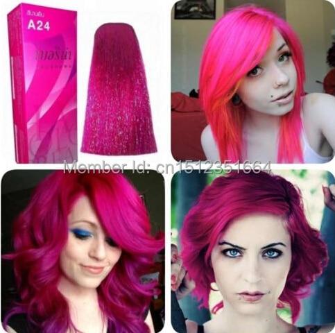 berina professionnels cheveux couleur crme permanent hair dye couleur a24 magenta livraison gratuite - Coloration Cheveux Magenta